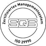 Logo von SQS für ISO 29990