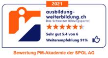 Sternenbewertung Aus-Weiterbildung mit Zusatz 2021